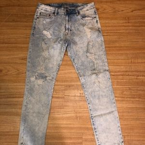 American Eagle Distress Denim.